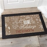 No Place Like Home Personalized Doormat- 20x35 - 15971-M
