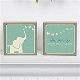 Baby Zoo Animals Personalized Shelf Blocks- Set of 2 - 15972