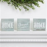 Home Sweet Home Personalized Shelf Blocks- Set of 3 - 15973