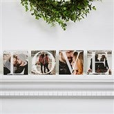 LOVE Photo Personalized Square Blocks- Set of 4 - 15975