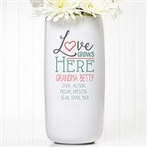 Love Grows Here Personalized Ceramic Vase - 15977