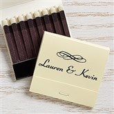 Wedding & Anniversary Personalized 30-Strike Matches w/ Graphic - Ivory - 15986D-I