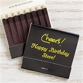 Party Time Personalized 30-Strike Matches - Black - 15987D-B