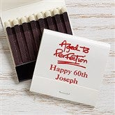 Party Time Personalized 30-Strike Matches - White - 15987D-W