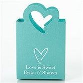 Wedding & Bridal Shower Personalized Mini Tote Favor Boxes - Heart - 15988D-H