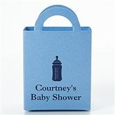 New Baby Personalized Mini Tote Favor Boxes - Round - 15989D-R