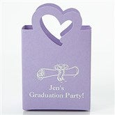 Party Time Personalized Mini Tote Favor Boxes - Heart - 15990D-H