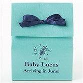 Baby Personalized Stardream Tote Favor Boxes - Straight - 15992D-ST