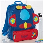 Airplane Embroidered Sidekick Backpack - 15996