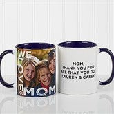 Loving Them Personalized Photo Coffee Mug 11oz.- Blue - 15998-BL