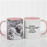 Loving Them Personalized Photo Coffee Mug 11oz.- Pink - 15998-P