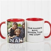 Loving Them Personalized Photo Coffee Mug 11oz.- Red - 15998-R
