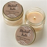 Rustic Chic Wedding Personalized Mason Jar Candle Favors - 15999