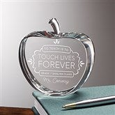 Teaching Touches Lives Personalized Crystal Apple Keepsake - 16023