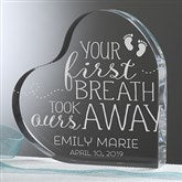 You Took Our Breath Away Personalized Baby Keepsake - 16025