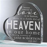 Heaven In Our Home Personalized Memorial Keepsake - 16026