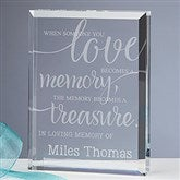 Memory Becomes A Treasure Engraved Keepsake - 16029