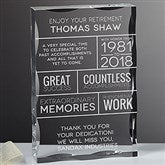 Retirement Wishes Personalized Keepsake Block - 16033