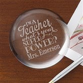 Teacher Quotes Personalized Crystal Paperweight - 16038