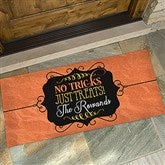No Tricks, Just Treats Personalized Oversized Doormat- 24x48 - 16047-O