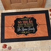 No Tricks, Just Treats Personalized Doormat- 20x35 - 16047-M