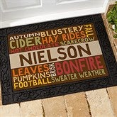 Fall Fun Personalized Doormat- 18x27 - 16048-S