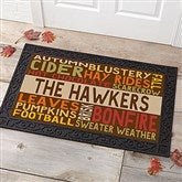 Fall Fun Personalized Doormat- 20x35 - 16048-M