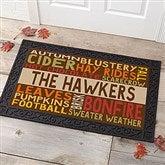 Fall Fun Personalized Doormat- 20x35 - 16048-M