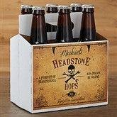 Vintage Halloween Personalized Beer Bottle Carrier - 16051-C