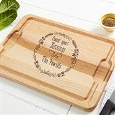 Count Your Blessings Personalized Maple Cutting Board- 12x17 - 16053