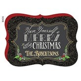 Merry Little Christmas Personalized Flat Card - 16080