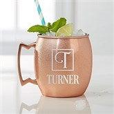 Square Monogram Moscow Mule Personalized Copper Mug - 16085