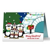 Penguin Family Personalized Christmas Cards - 16090