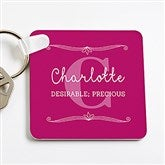 My Name Means...Personalized Key Ring for Her - 16092