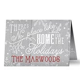 No Place Like Home Personalized Christmas Cards - 16095