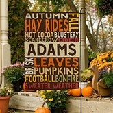 Fall Fun Personalized Garden Flag - 16100