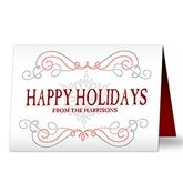 Family Swirl Personalized Christmas Cards - 16101