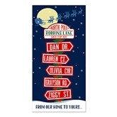 North Pole Family Sign Holiday Postcard-Premium - 16103-P