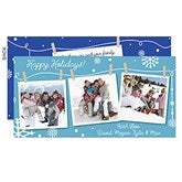 Clothesline Snow Holiday Card-Premium - 16109-P