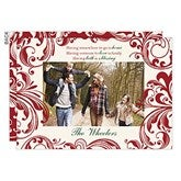 Christmas Blessing Personalized Flat Card - 16120