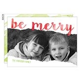 Be Merry Personalized Christmas Flat Card - 16122
