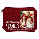 Family Is Love Personalized Christmas Flat Card - 16123