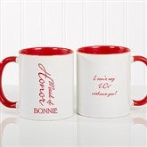 Bridal Brigade Personalized Wedding Coffee Mug 11oz.- Red - 16127-R