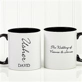 Bridal Brigade Personalized Wedding Coffee Mug 11oz.- Black - 16127-W