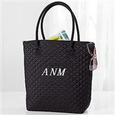 Embroidered Quilted Shoulder Bag- Monogram - 16129-M