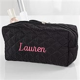 Embroidered Quilted Cosmetic Bag- Name - 16130-N