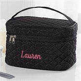 Embroidered Quilted Train Case- Name - 16131-N