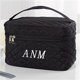Embroidered Quilted Train Case- Monogram - 16131-M