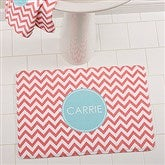 Preppy Chic Personalized Memory Foam Bath Mat - 16153