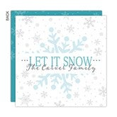 Snowy Christmas Personalized Christmas Cards - 16154
